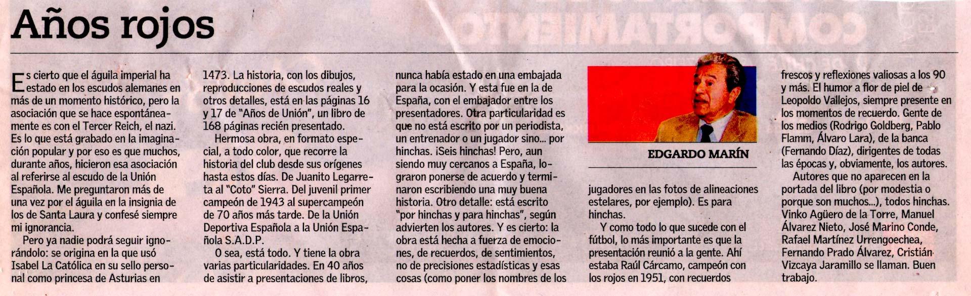Comentario de Edgardo Marín